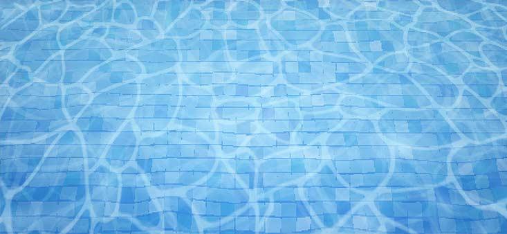 Piscine nettoyée avec un aspirateur de piscine