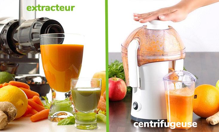 Différence entre un extracteur et une centrifugeuse