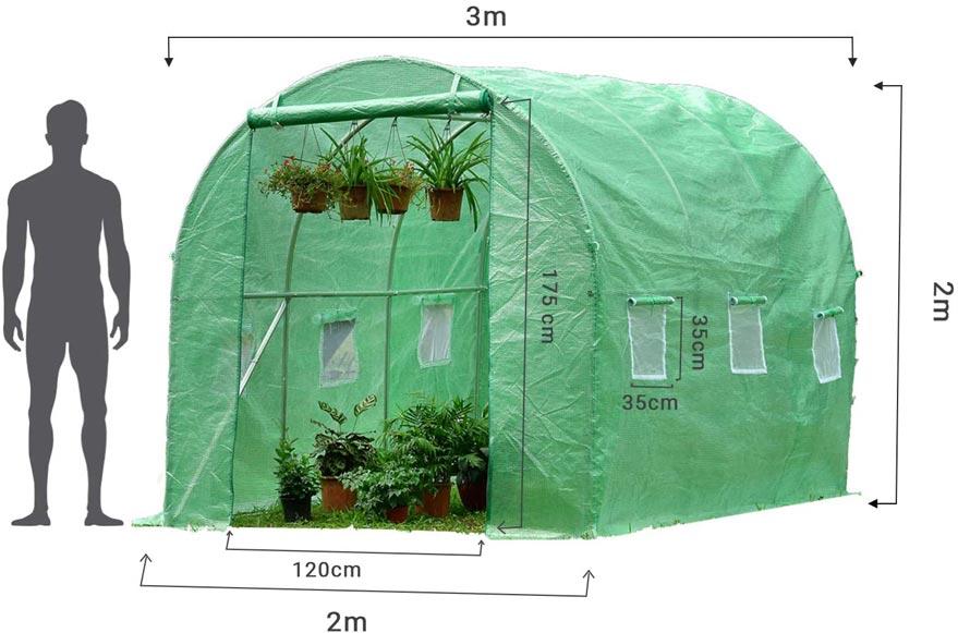 Dimensions serre jardin Parviflore