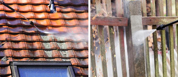 Décapage au Karcher, toiture et cloture