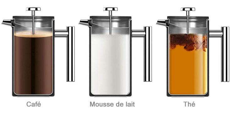 Café, thé ou mousse de lait