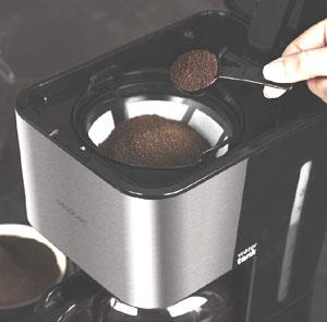 Dosage d'une cafetière filtre