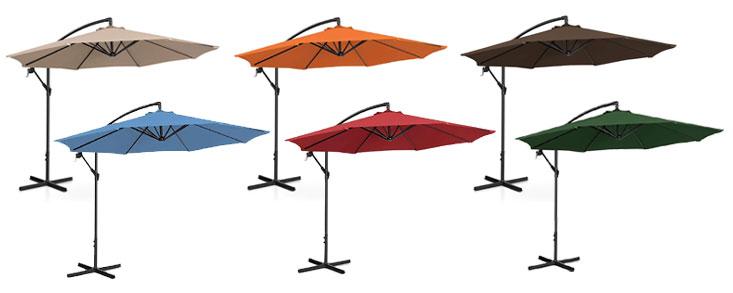 Couleurs des parasols déportés
