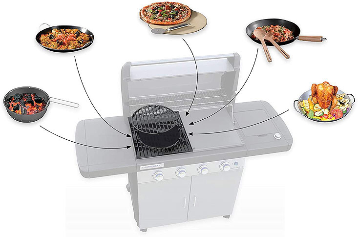 Barbecue polyvalent avec 3 modes de cuisson