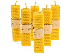 bougies à la cire d'abeille
